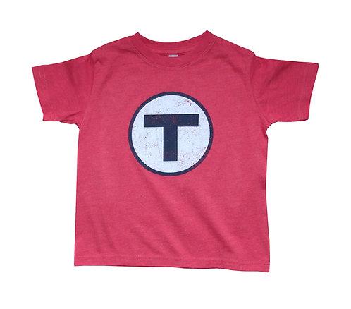 Boston MBTA Logo Red Line t-shirt for toddlers