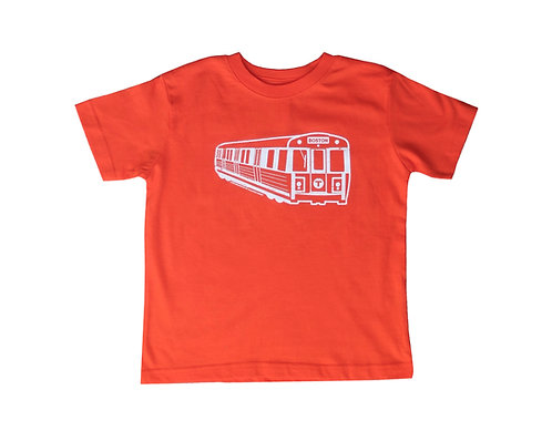 orange Boston MBTA Orange Line train t-shirt for toddlers