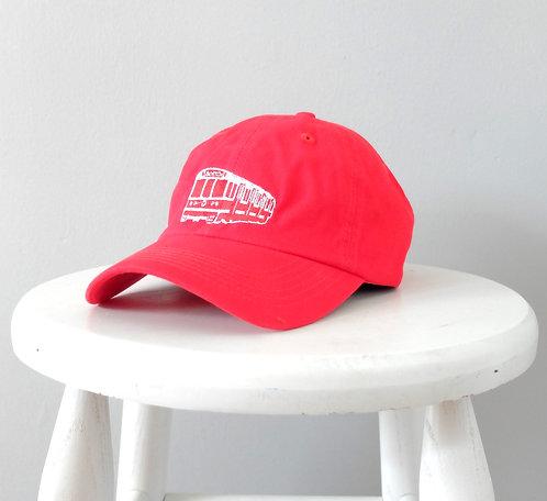 Red Boston MBTA Train Embroidered Baseball Hat