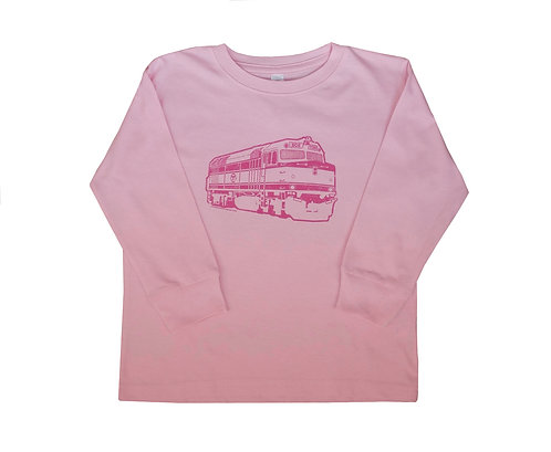 Pink MBTA Commuter Rail Shirt for Toddlers