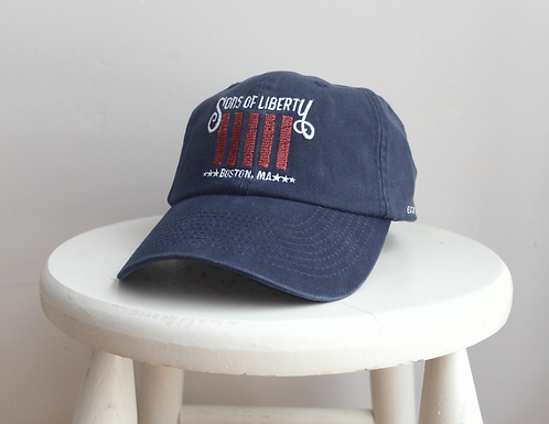 Boston Sons of Liberty Flag Navy Blue Embroidered baseball hat