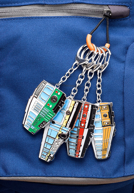 MBTA Metal Keychain Collection
