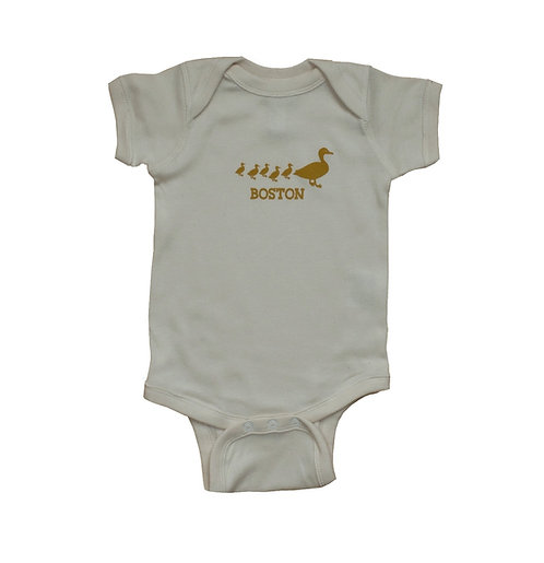 Natural color Boston Ducklings onesie | creeper for infants