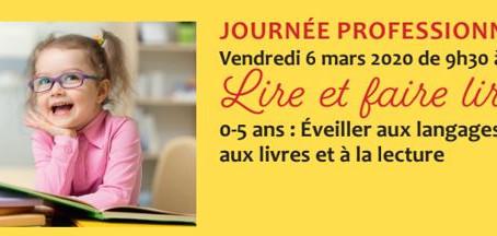 """Journée Professionnelle """"Lire et faire lire !"""""""