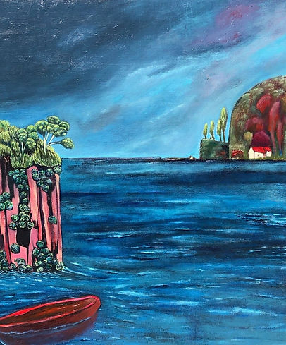 To a Place Remote Oil on canvas H 102 cm