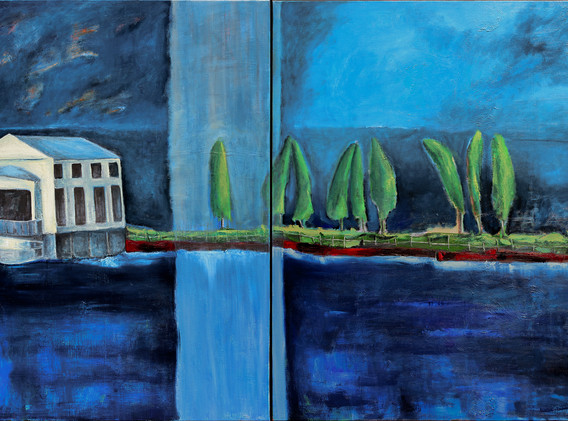 The Pumphouse (diptych)