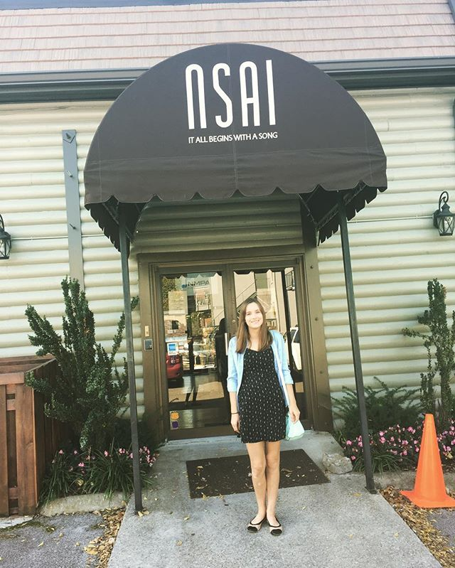 Now a member of the Nashville Songwriters Association International!! Thanks for the tour! #nsai _ns