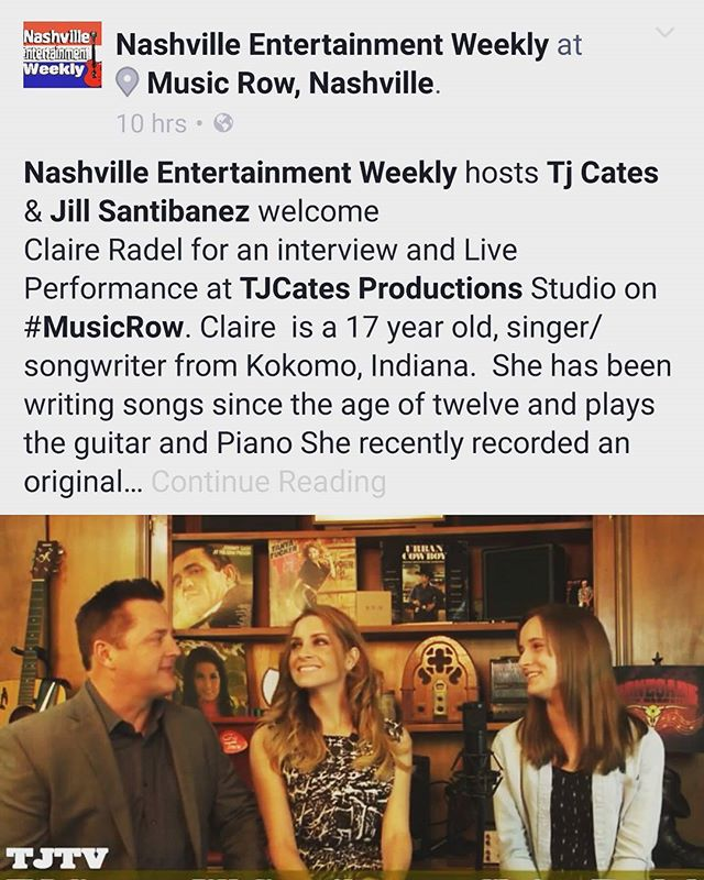 Go check it outttt!!! _nashvilleentertainmentweekly on facebook _)