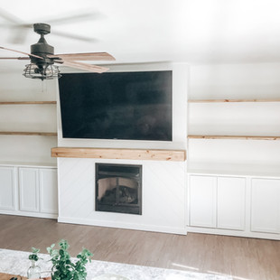 Shiplap Fireplace and Built-ins