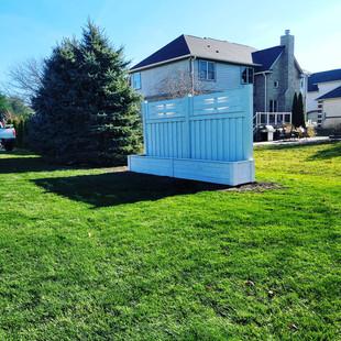 Cedar Privacy Screen and Planter Box