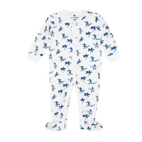 Casey Infant Pajama Suit - Waikiki Blue