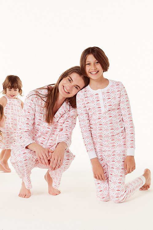 Carmen PJ Set - Flying Piggies Pink or Blue