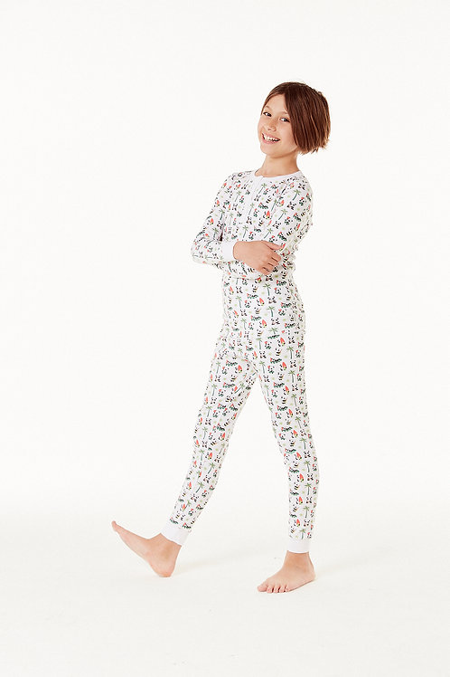 Cameron Pajama Set - Aloha Panda Multi