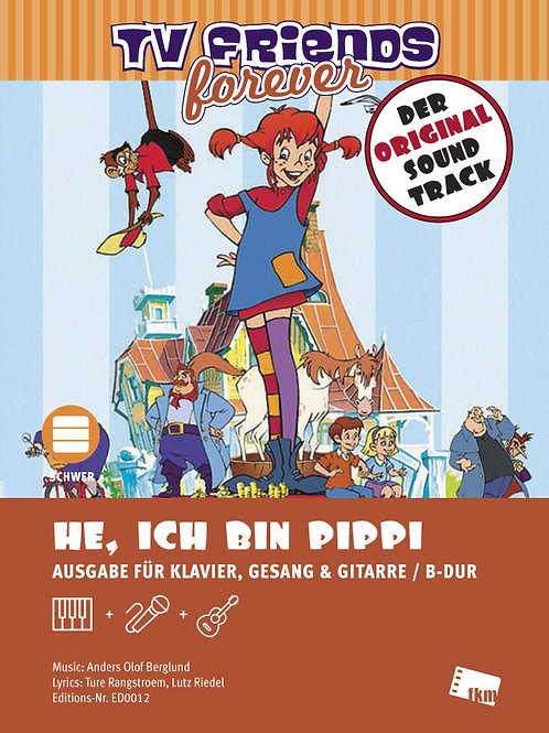 He ich bin Pippi - Sheet Music - Piano, Vocal, Guitar