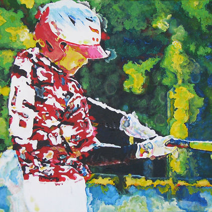 American expressionism Impressionism Leroy Neiman Sports Art Painting Kaleidoscope bright colors