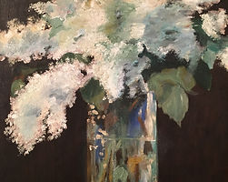 Edouard Manet Lilacs in a vase impressionism oil painting