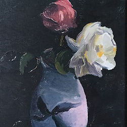 Christopher baker reproduction oil painting vase of flowers