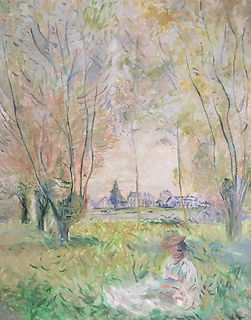 Claude Monet impressionism Reproduction oil painting Woman sitting under the willows