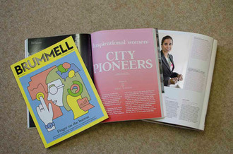 Selected by Brummell magazine as top 30 Inspirational women, City Pioneers- 2018