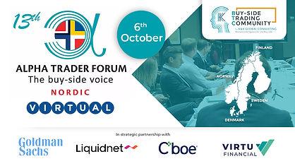 13th Alpha Trader Forum Equities Nordics