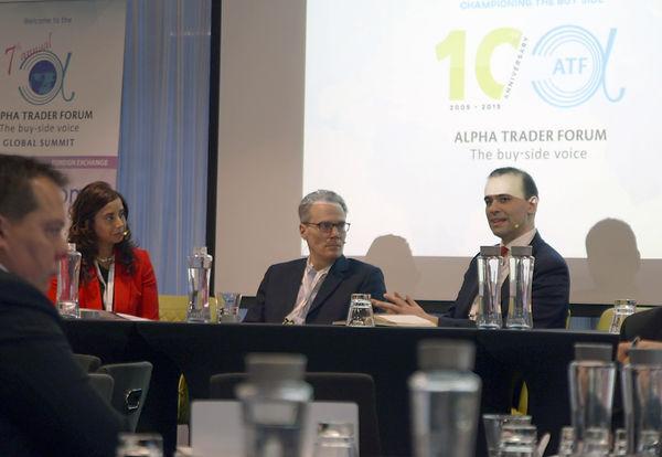 Anita Karppi (K&KGC), Scott Eaton (Algomi) and Ruben Costa-Santos (ITG Analytics) at the 7th annual ATF Global Summit 2019