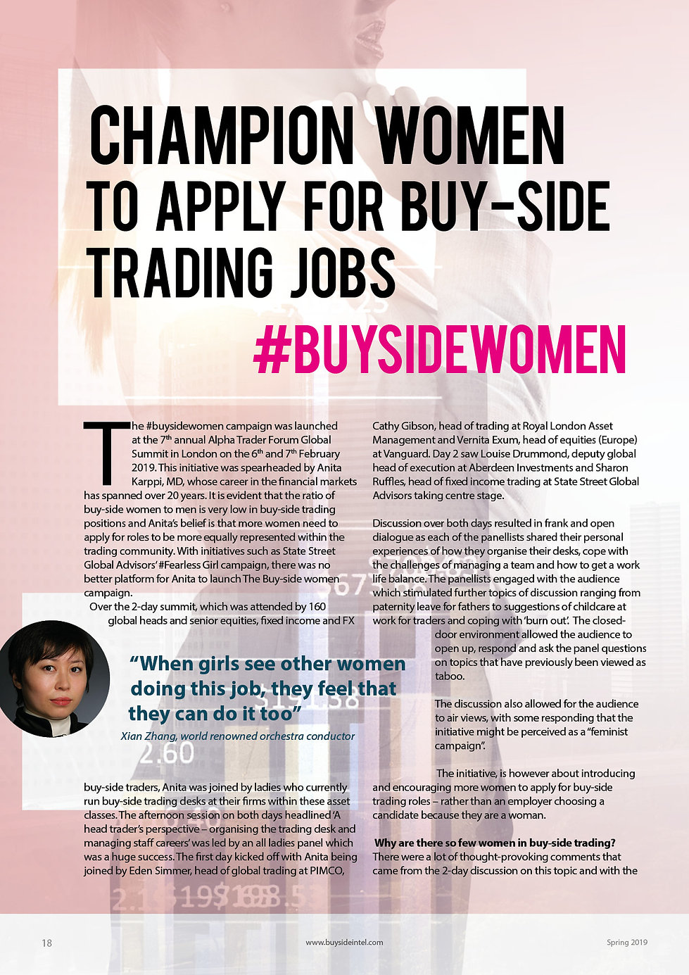 Champion women to apply for buy-side trading jobs
