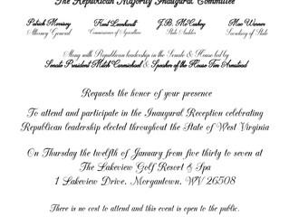 Republican Inaugural Reception in Morgantown