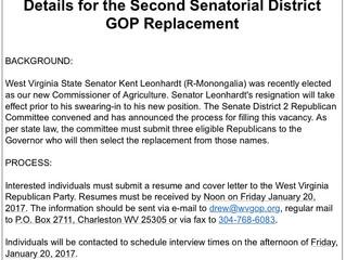 GOP Seeking Replacement for Senator Leonhardt