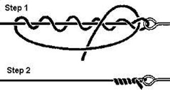 Picture of how to tie clinch knot