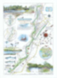 Colour map of the river Loughor
