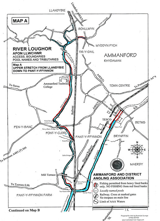 River Map A for river Loughor