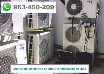 Servicio de Mantenimiento de Aire Acondicionado en empresa en Lima PERU