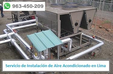 Servicio de Instalación de Aire Acondicionado en industria en Lima PERU