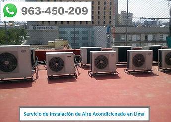 Servicio de Instalación de Aire Acondicionado en centro comercial en Lima PERU