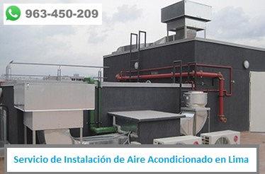 Servicio de Reparación de Aire Acondicionado en negocio en Lima PERU