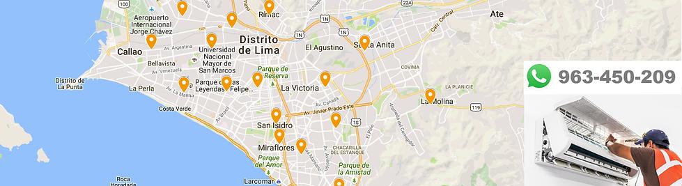 Aire Acondicionado Cobertura en Lima Perú para los servicios de intalación, mantenimieto y reparación.