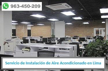 Servicio de Instalación de Aire Acondicionado en oficinas de Lima PERU