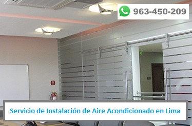 Servicio de Reparación de Aire Acondicionado en oficinas en Lima PERU