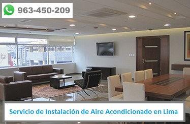 Servicio de Mantenimiento de Aire Acondicionado en oficinas en Lima PERU
