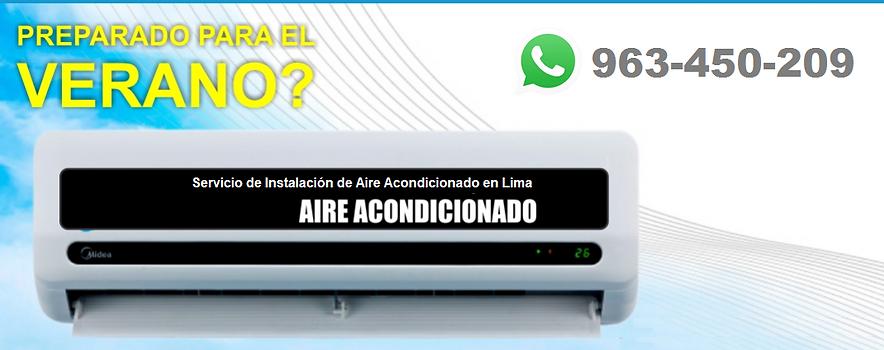 Instalación, mantenimiento y reparación de Aire Acondicionado en Lima Perú