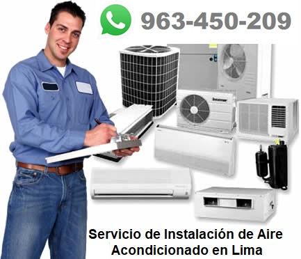 Aire Acondicionado en Lima. Servicios de Instalación, mantenimiento y reparación.