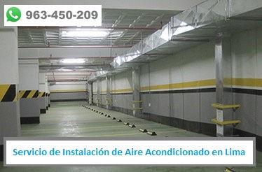 Servicio de Instalación de Aire Acondicionado en estacionamiento en Lima PERU