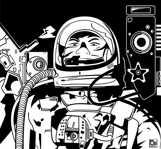 Stylized Astronaut