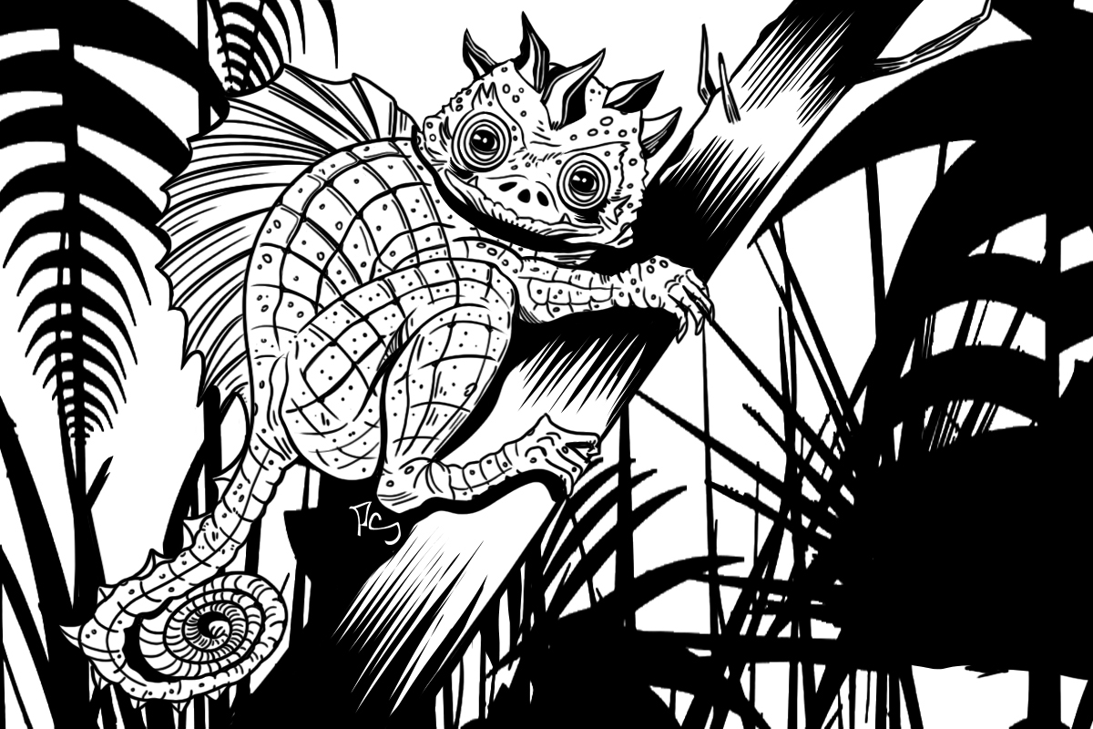 Alien Reptile Illustration