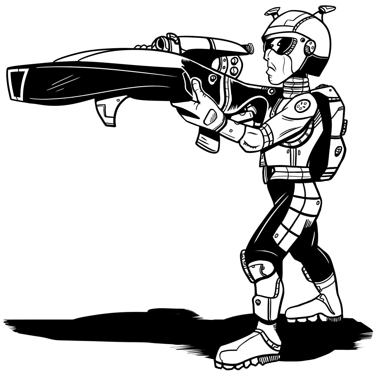 Classic Gray AlienCommando