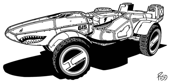 Futuristic ATV