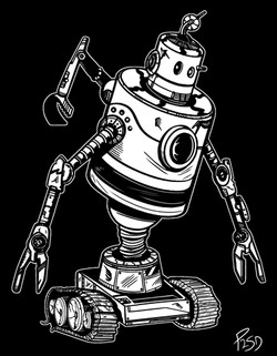 Junk Bot Illustration