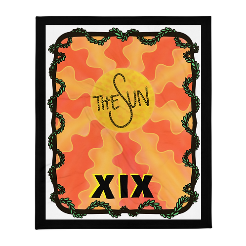 XIX The Sun Throw Blanket