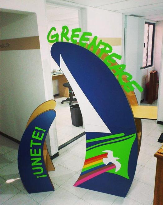 Material para evento / Photo call para Greenpeace
