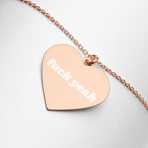 Fuck Yeah Heart Necklace